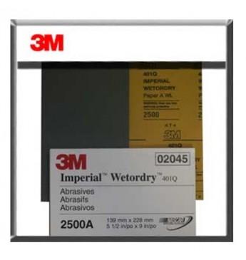 3M™ Popierius šlapiam šlifavimui P2500, 138x230mm, 1 lapelis (pakuotę sudaro 50 vnt.)