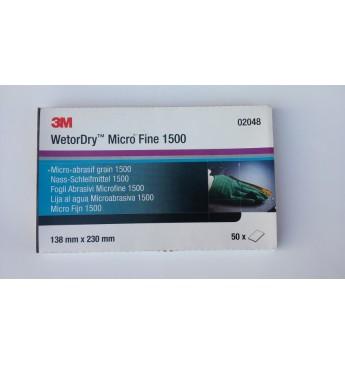 3M™ Popierius šlapiam šlifavimui P1500  138x230mm, 1 lapelis (pakuotę sudaro 50 vnt.)