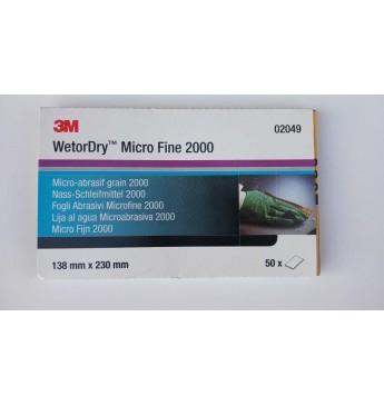 3M™ Popierius šlapiam šlifavimui P2000  138x230mm, 1 lapelis (pakuotę sudaro 50 vnt.)