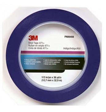 3M™ Vinilinė maskavimo juosta mėlyna  6mm x 33m
