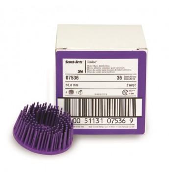 3M™ Roloc Bristle diskas P36 violetinis 50mm