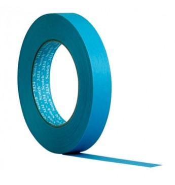 3M™ Maskavimo juosta mėlyna 19mm labai atspari vandeniui, 1 juosta (pakuotę sudaro 48 vnt.)