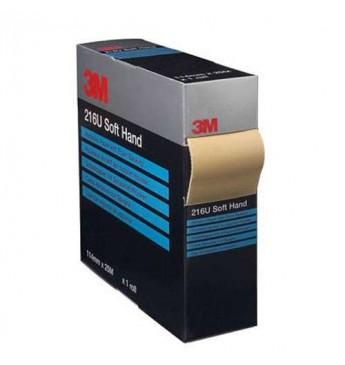 3M™ Šlifavimo popierius P240 minkštu pagrindu 114mmX25m