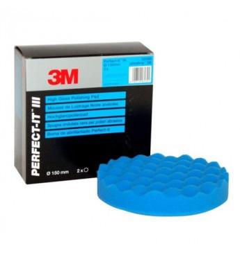 3M™ Poliravimo kempinė mėlyna 150mm pastai Ultrafina, gofruota