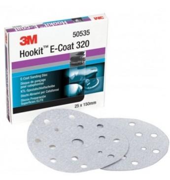 3M™ E-coat diskas P320 15sk. 150mm, 1 diskas (pakuotę sudaro 25 vnt.)