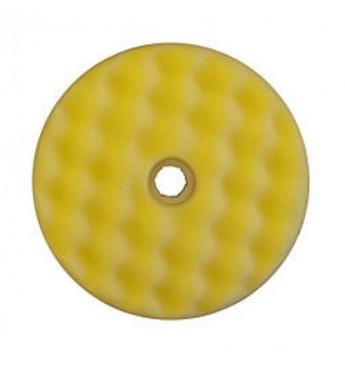 3M™ Dvipusė geltona gofruota poliravimo kempinė 216 mm greitos fiksacijos