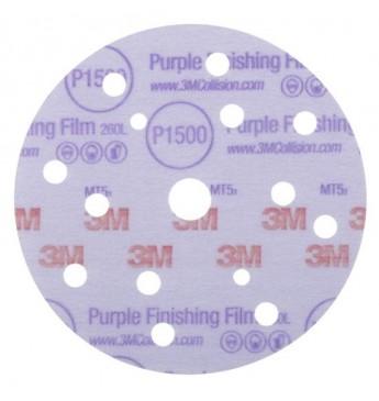 3M™ Purple diskas P1500 150mm 15sk, 1 diskas (pakuotę sudaro 50 vnt.)