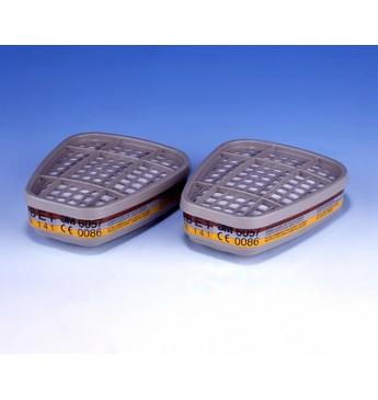 3M™ Filtrai nuo organinių, neorganinių ir rūgštinių dujų, 2 vnt.