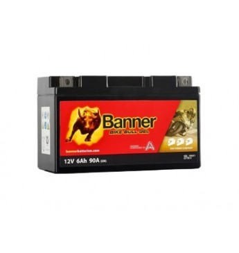 Banner 6Ah Bike Bull GEL 12V 90A akumuliatorius 150x65x92mm