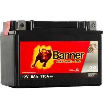 Banner AGM 8Ah 90A Bike Bull akumuliatorius 12V 150x87x105mm