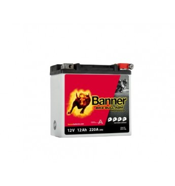 Banner 12Ah Bike Bull PRO 12V 220A akumuliatorius 150x88x145mm