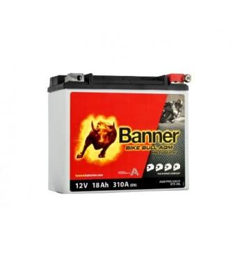 Banner 18Ah Bike Bull PRO 12V 310A akumuliatorius 175x88x155mm