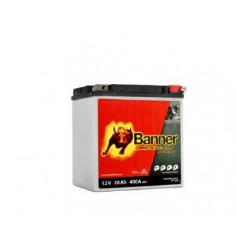 Banner 26Ah Bike Bull PRO 12V 400A akumuliatorius 168x131x176mm