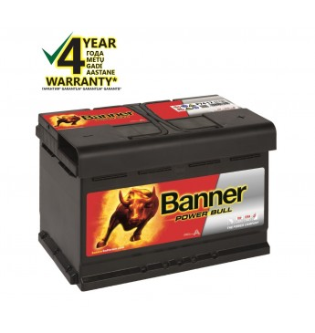 Banner 74Ah 680A 12V Power Bull akumuliatorius 278x175x190mm