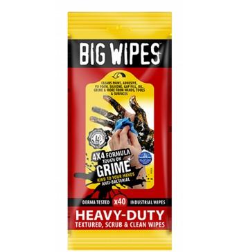 Valymo servetėlės Heavy Duty BIG WIPES 40 vnt 20x30 cm