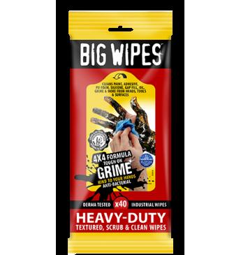 Valymo servetėles Heavy Duty BIG WIPES 40 vnt 20x30 cm
