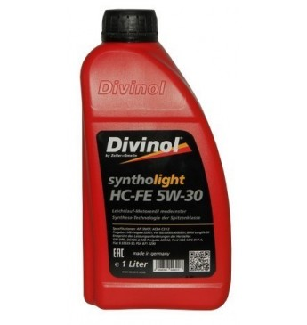 Syntholight DIVINOL HC-FE 5 W-30 1 l, MB229.51,229.52; VW505.01