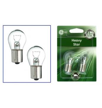 Lemputė HD 24V 21W  BA15s P21W GE HeavyDuty LL BL 2vnt 1060HDL