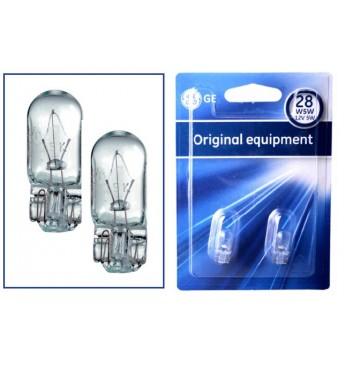 Lemputė 12V 5W W2.1X9.5d W5W be cokolio BL 2vnt. GE 501