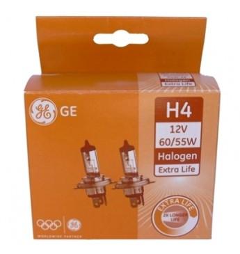 Lemputė H4 12V 60/55W D 2vnt. GE Extra life 50440DPU 17462