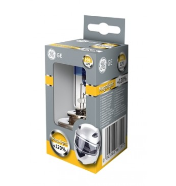 Moto lemputė H4 12V 60/55W GE Megalight Ultra +120% 50440SNU
