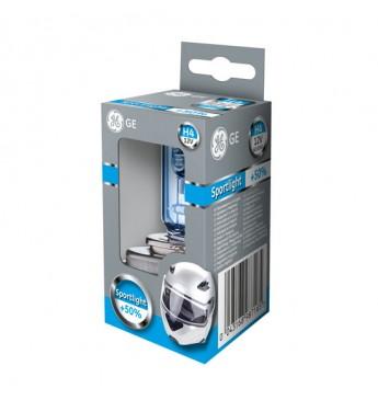 Moto lemputė H4 12V 60/55W GE Sportlight +50% 50440SPU 98716