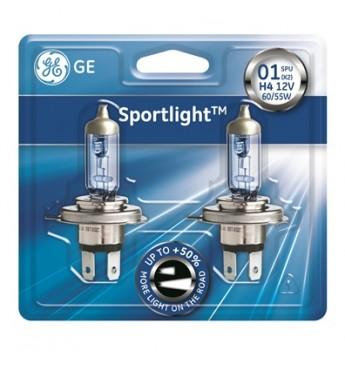 Lemputė H4 12V 55W BL 2vnt. GE Sportlight +50% 50440SPU 97132
