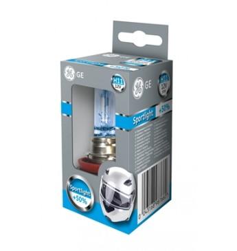 Moto lemputė H11 12V 55W GE Sportlight +50% 53110SPU 98766