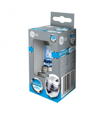 Moto lemputė H7 12V 55W GE Sportlight +50% 58520SPU