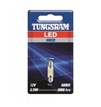 LED lemputė 12V SV8.5-8 C5W TUNGSRAM