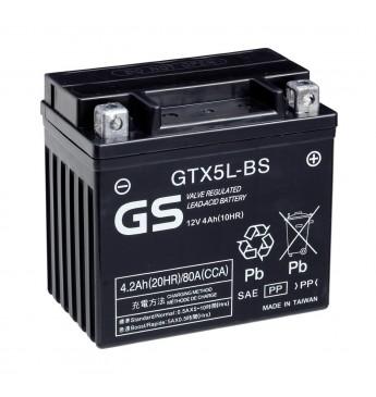 GS YUASA Moto 4.2Ah GTX5L-BS12V 80A 114x71x106mm