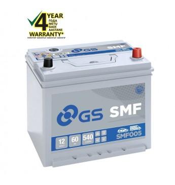 GS YUASA -+ 60Ah SMF005 12V 460A 232x173x225mm