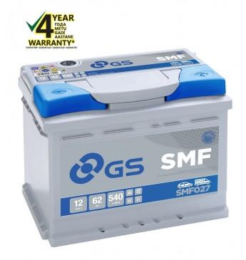 GS YUASA -+ 62Ah SMF027 12V 540A 242x175x190mm