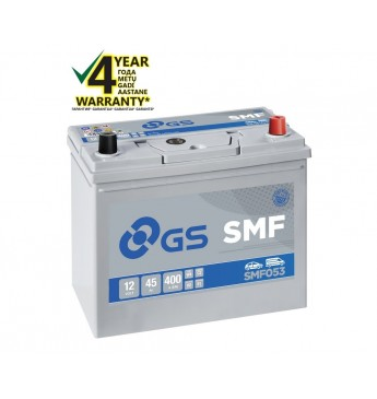 GS YUASA -+ 45Ah SMF053 12V 400A 238x129x224mm