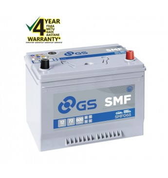 GS YUASA -+ 72Ah SMF068 12V 600A 264x175x220mm