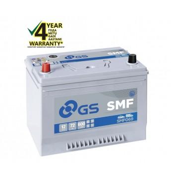 GS YUASA +- 72Ah SMF06 12V 600A 264x175x220mm