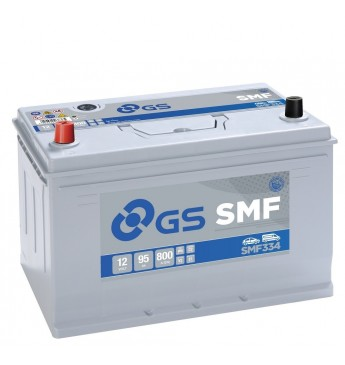 GS YUASA +- 95Ah SMF334 12V 800A 306x175x222mm