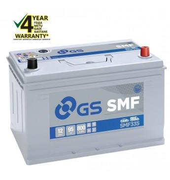 GS YUASA -+ 95Ah SMF335 12V 800A 306x175x222mm