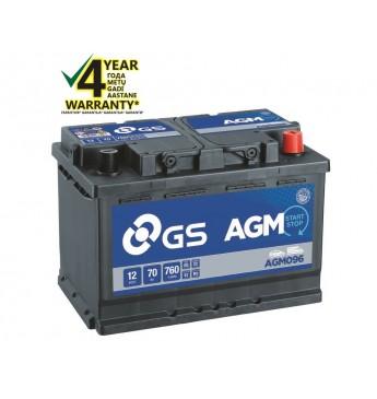 GS YUASA 70Ah AGM096 12V 760A 278x175x190mm