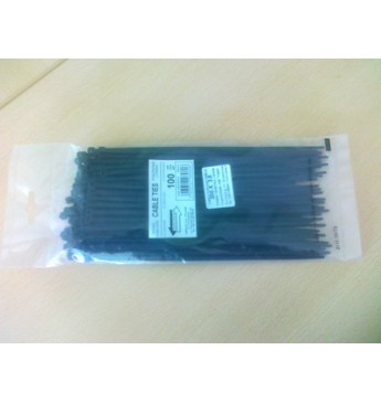 Dirželis UV 400mm x 7,6mm juodas, 100 vnt.