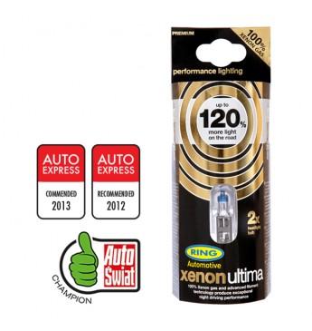 Lemputė RING H4 12V 55W Xenon Ultima +120%, blisteris 2vnt