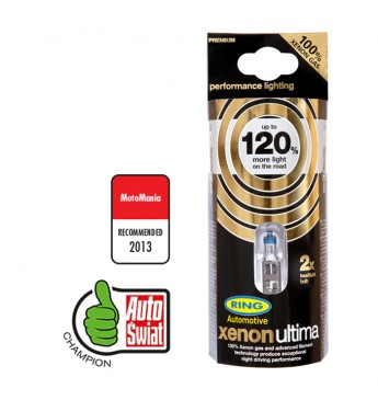 Lemputė RING H7 12V 55W Xenon Ultima +120%, blisteris 2vnt