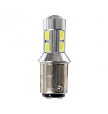 LED lemputė RING 24V 2W BA15d R5W 6000K 400 liumenų RING