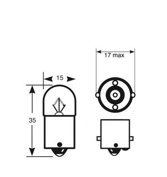 Lemputė RING 12V 5W BA15s