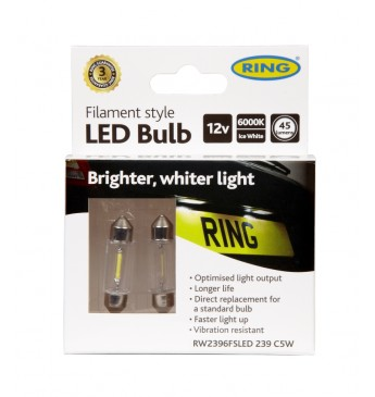 LED lemputė 12V C5W S8.5 35mm RING FILAMENT 239