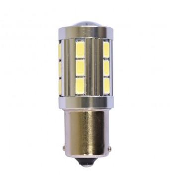 LED lemputė RING 24V 4W BA15s P21W 6000K 530 liumenų RING