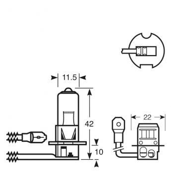 Lemputė RING H3 24V 70W