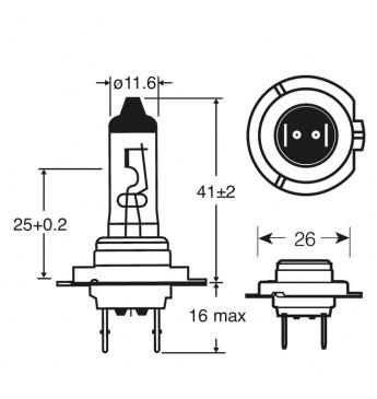 Lemputė RING H7 24V 70W