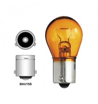 Lemputė RING 12V 21W BAU15s geltona blisteris 2vnt.