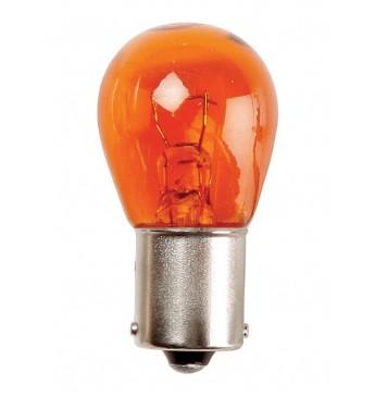 Lemputė RING 12V 21W BAU15s geltona